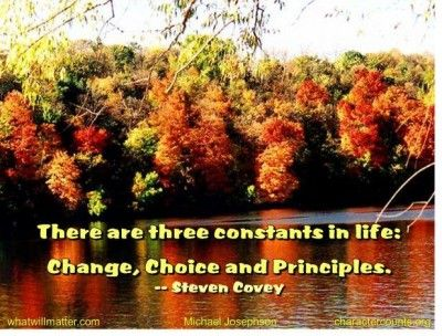 Change, choice, principles