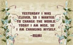 Quote on Change - Rumi