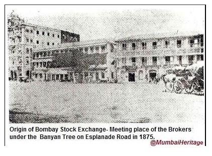 Image result for bombay stock exchange old pictures