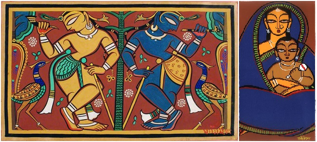 Jamini Ray paintings