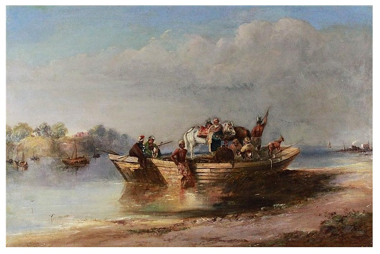 ON THE RIVER - INDIA 1815