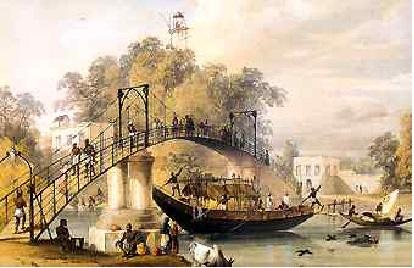 Suspension Bridge at Alipore , 1835