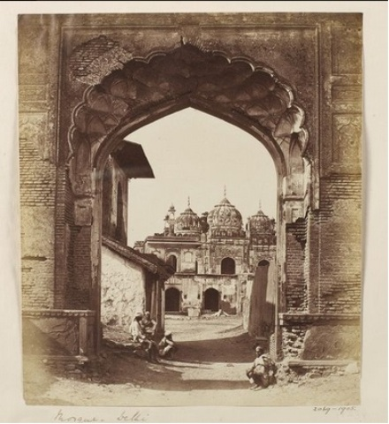 Delhi - Mosque Kashmere Gate, after Uprising