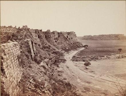 Delhi - Ruins of Tughlakabad Fort 1858