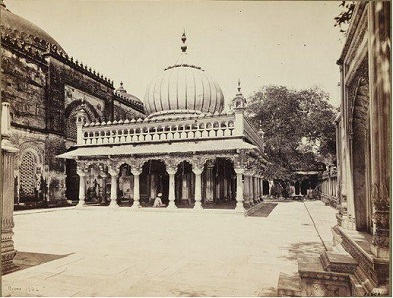 Delhi-Tomb of Nizamuddin Auliya 1860
