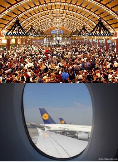 Oktoberfest with Lufthansa A380