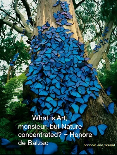 Nature is Art quote