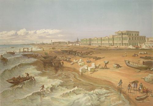 Beach of Madras, 1867