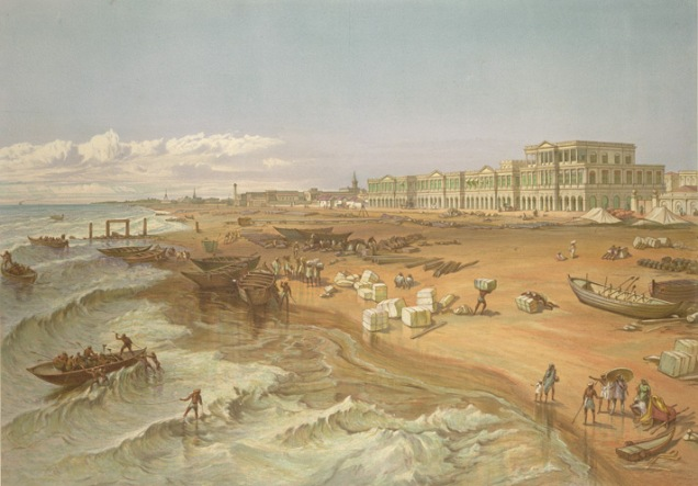 Beach of Madras, 1867