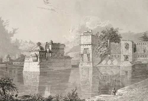 Palace of Rana Bhim and Padmini, Chittaurgarh,1829