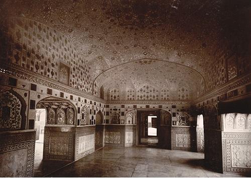 Sheesh Mahal, Amber Palace, 1885
