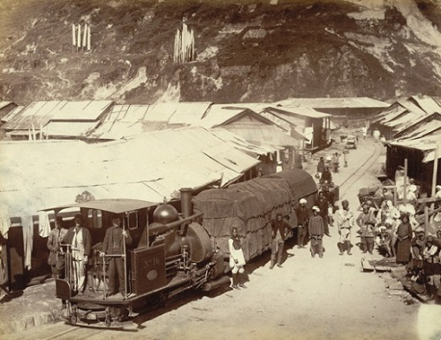 Hill village on Darjeeling Railway.