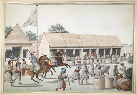 Street scene , Lucknow, 1800