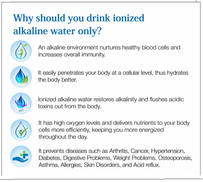 Health Benefits Of Ionized Water
