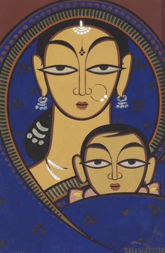 Mother& Child, Jamini Roy