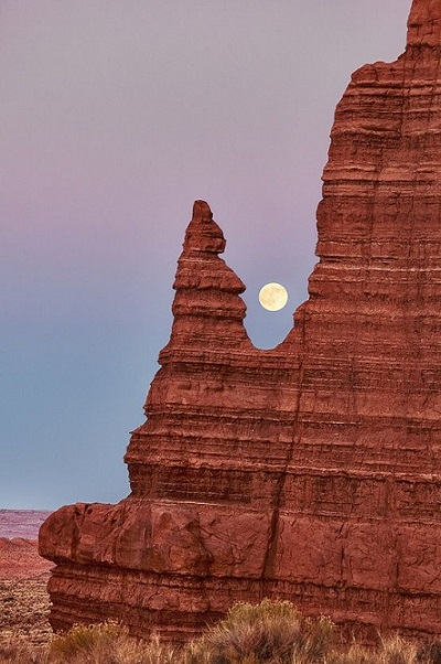 Moon on Capitol Reef